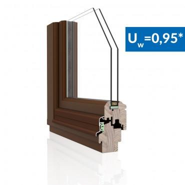 Drevené okno DDR-68